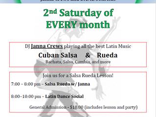 Latin Dance Social 2nd Saturday
