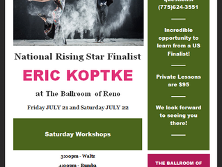 July 21st & 22nd - Eric Koptke workshops and privates