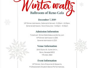 Ballroom of Reno Gala, December 7th 2019