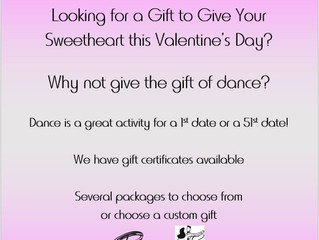 Valentine Dance Gift Cards purchase online or at the Front Desk.