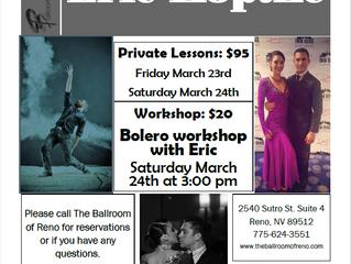 Bolero Workshop with Eric Koptke March 24th