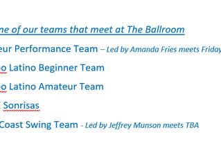 Teams at The Ballroom of Reno