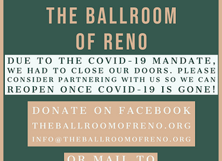 Message about Covid 19 from The Ballroom of Reno