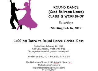 Round Dance (cued Ballroom Dance) Series class 8-10 weeks starts Feb 16th