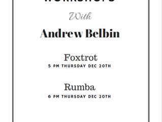 International Foxtrot and Rumba Workshops December 20th