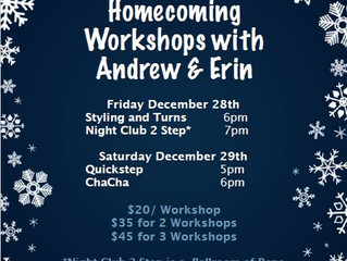 Workshops with Erin and Andrew December 28th & 29th