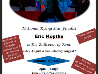 Aug 4th  & 5th - Eric Koptke workshops and privates