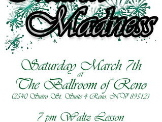 Saturday, March 7th, Dance Party and  Waltz Lesson