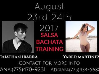 Salsa Bachata Training Aug 23rd-24th