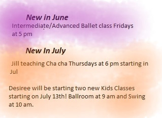 New For June and July