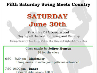 Swing Meets Country Dance June 30 - Musicality class with Jeffrey Munson
