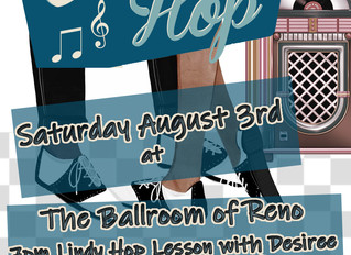 Saturday August 3rd Lindy Hop or Cuban Salsa Lesson Before the Dance Party