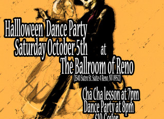Halloween Party Saturday October 5th with  Cha Cha Lesson