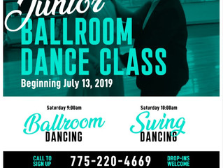Junior Ballroom Class starts July 13th