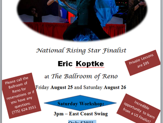East Coast Swing workshop August 26th with Eric Koptke