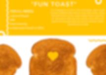 Yellow Circle Squiggles Toast Love Postc