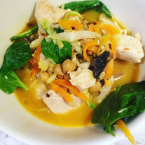 Warming Chicken and Coconut Soup