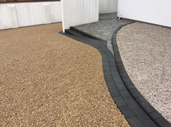 Brett Paving and decorative gravel