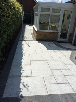Grey Patio Paving
