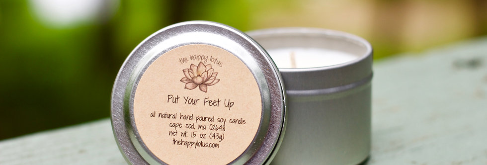 """""""Put your feet up"""" Candle"""