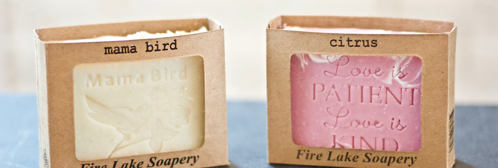 Hand-Stamped Soap Bars