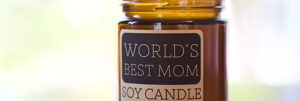 """World's Best Mom"" Candle"