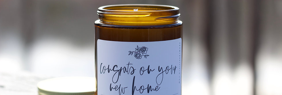 """""""Congrats on your new home"""" Candle"""
