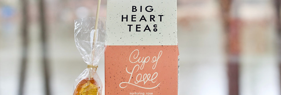 """""""Cup of Love"""" Tea Bags and Honey Spoon"""
