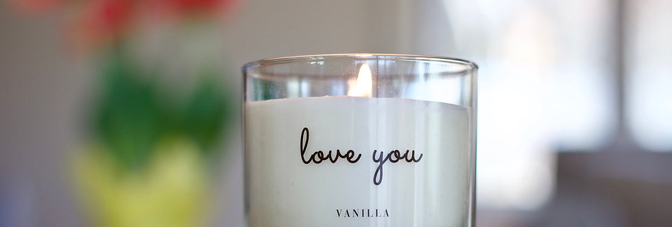 """""""Love you"""" Candle"""