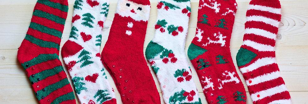 Fuzzy Holiday Socks