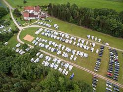 Luftansicht mit Campingclub