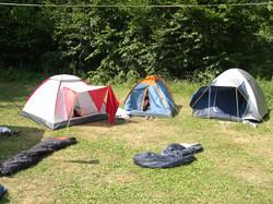 Zelte auf unserem Platz