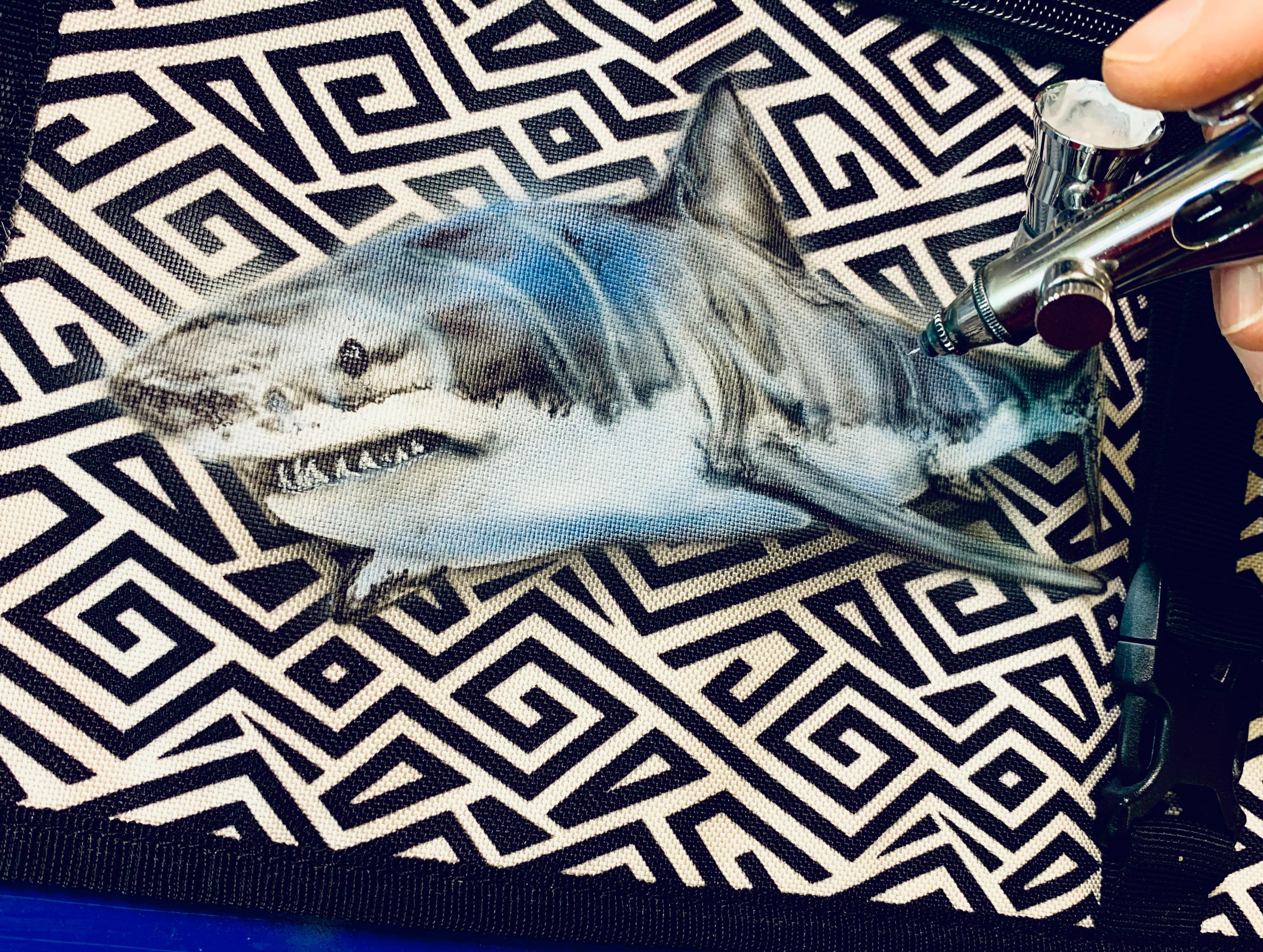 kleiner Hai Airbrush