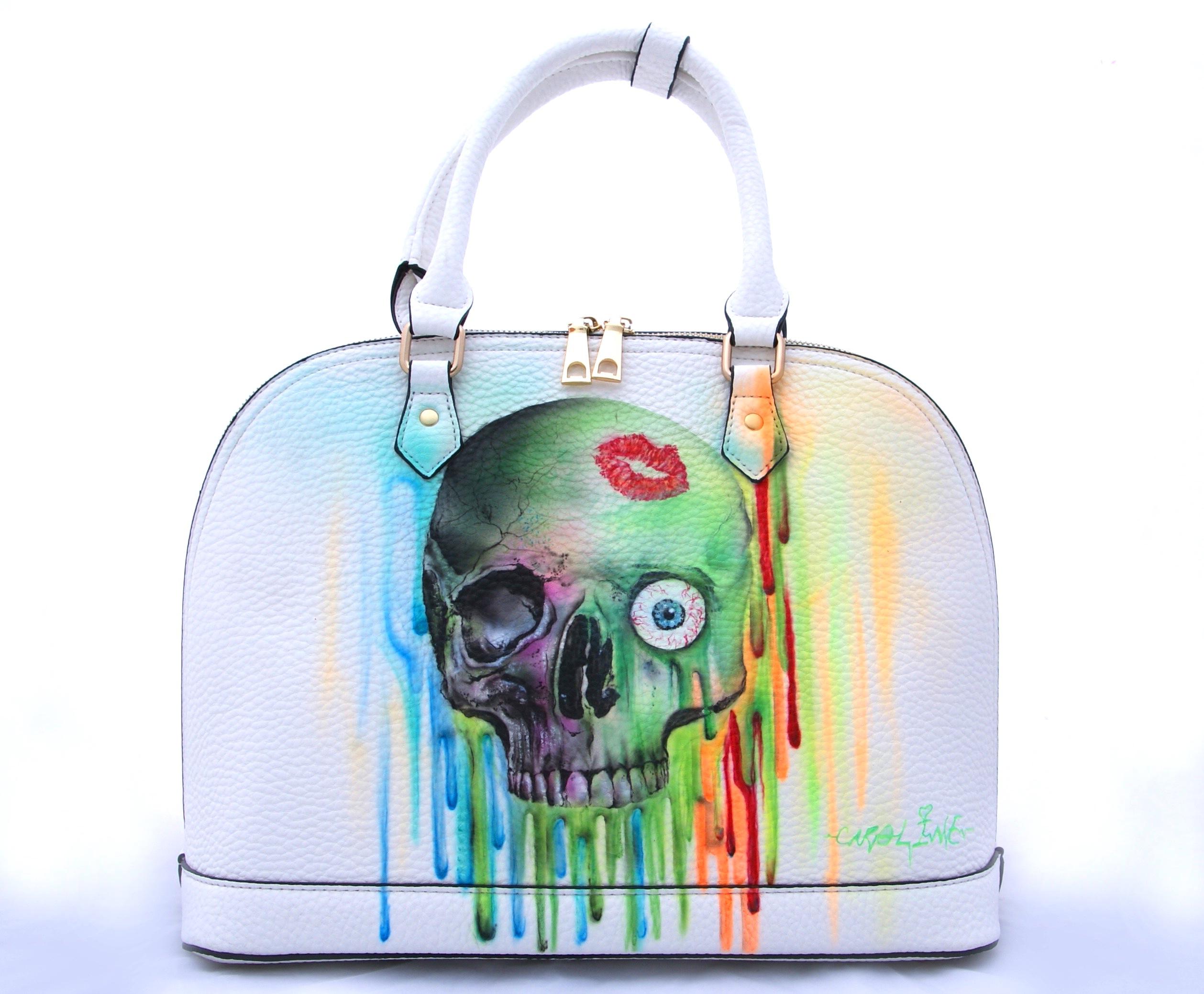 Airbrush Tasche Skull