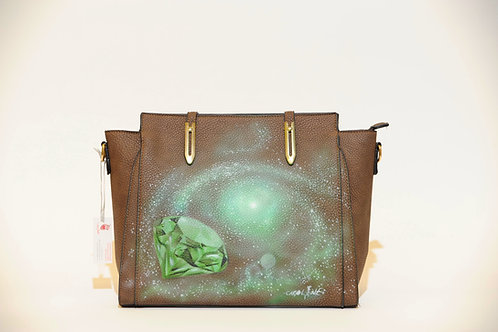 "Tasche ""Crystal Space"" Airbrush Design"