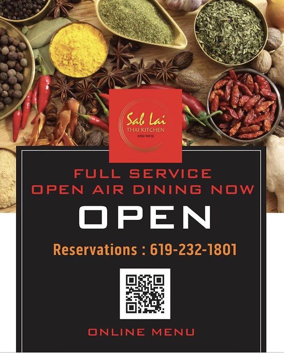Voted Best Thai Restaurant San Diego Sab