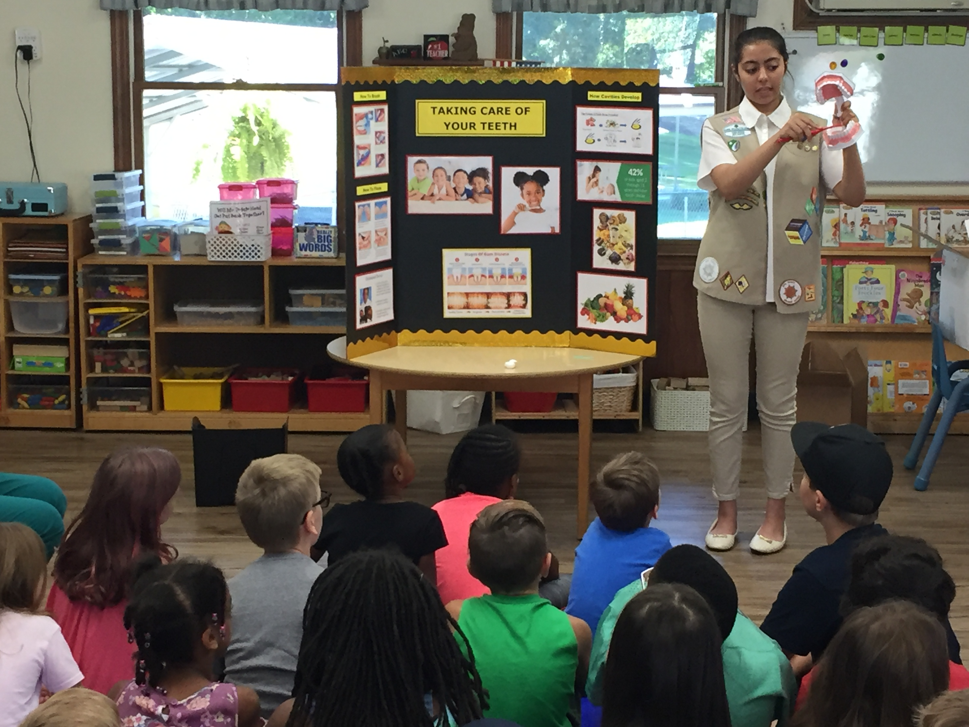 Kids learn about oral health