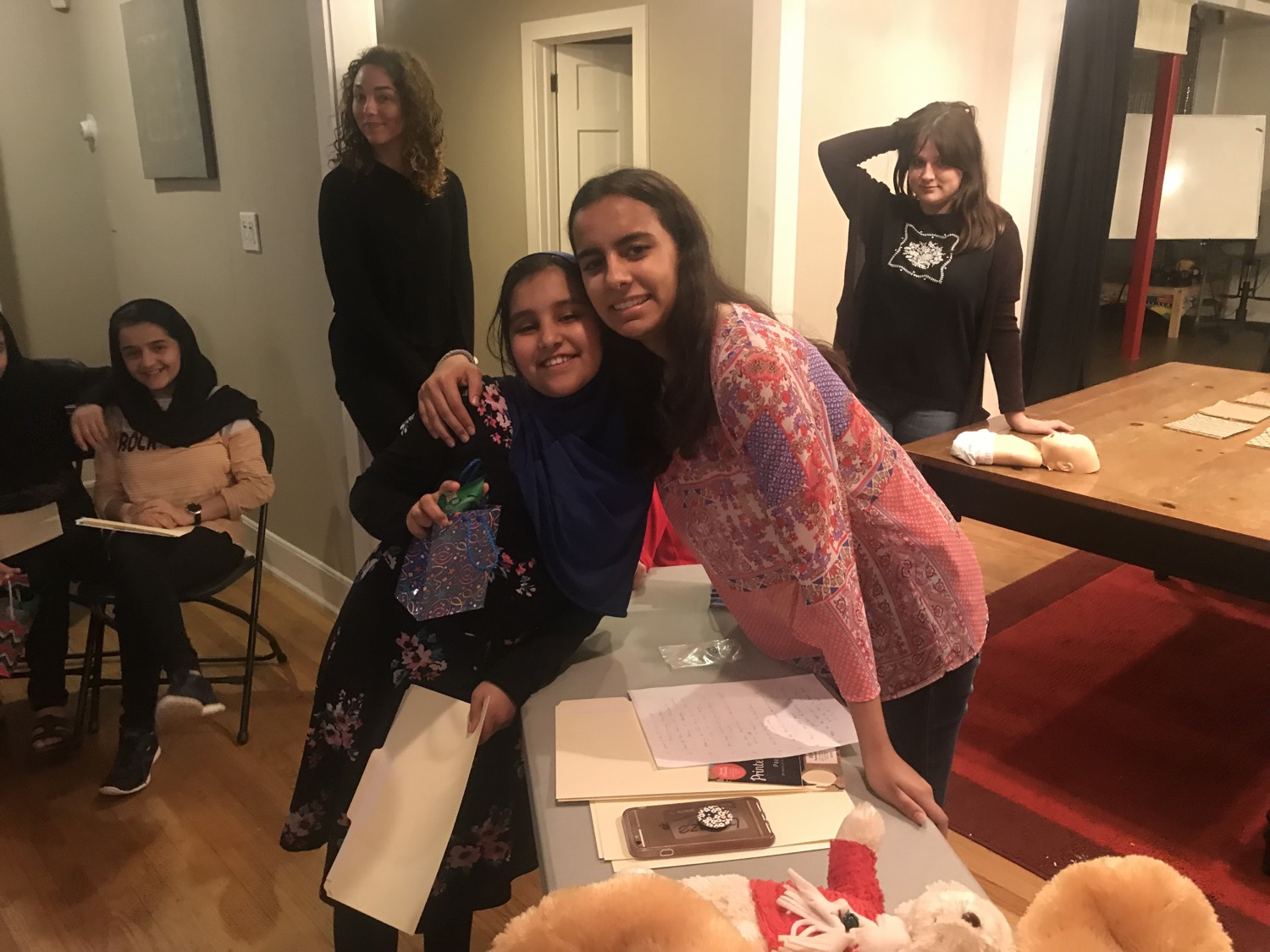 CPR training for refugee girls in GA