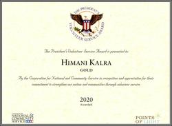 Presidential Award 2020