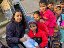 Supplies distributed in slums