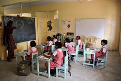 Supplies for rural schools in India