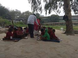 Lunch meals for rural school girls