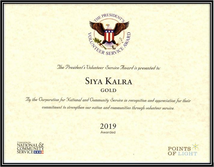 Presidential Volunteer Service Award