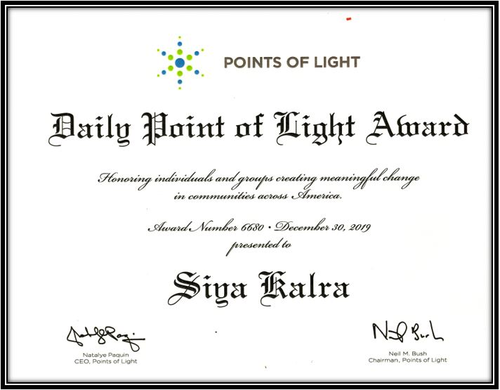 Point Of Light Award