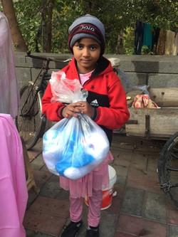 Supplies for Indian village girls