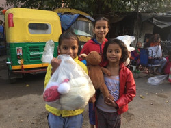 Writing supplies for girls in slums