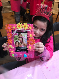 Little girls making cards in the US