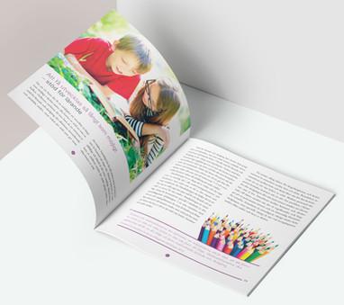 """Ett uppslag i broschyren """"Skolan är till för barnet"""""""