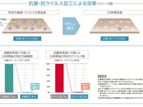 抗ウイルス加工フロア 永大産業から新発売!