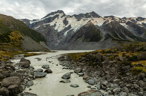 Mount Cook from Hooker Valley Track